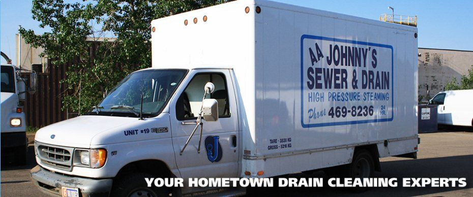 AA Johnny's Sewer & Drain Cleaning Service Ltd truck