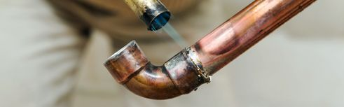 Torch copper piping